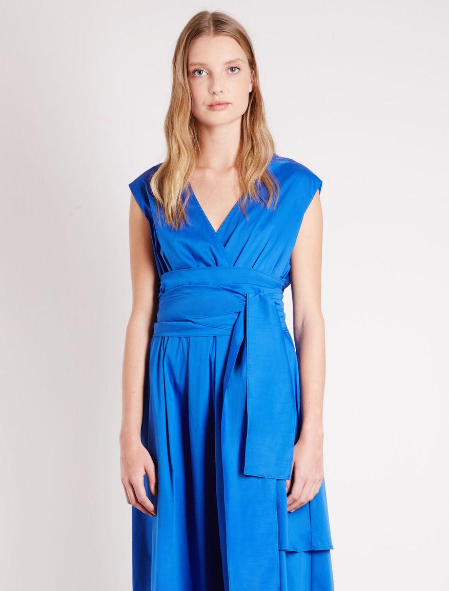 Poplin dress, cornflower blue - Marella