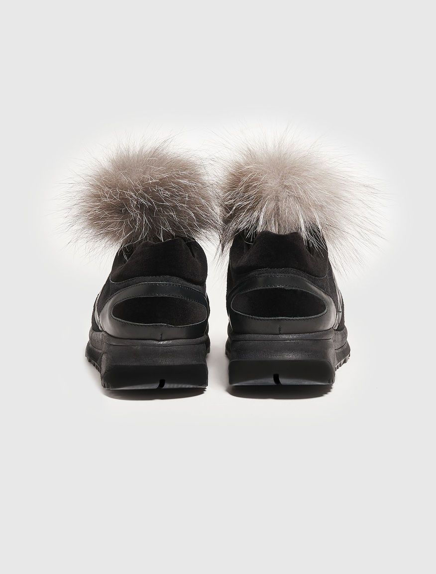Sneakers with pompoms Marella
