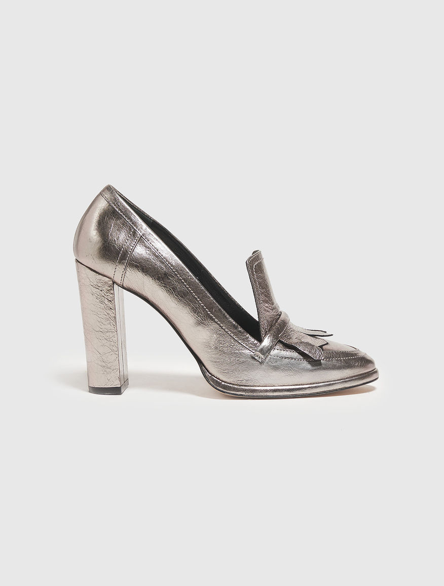 Court shoes in laminated leather Marella