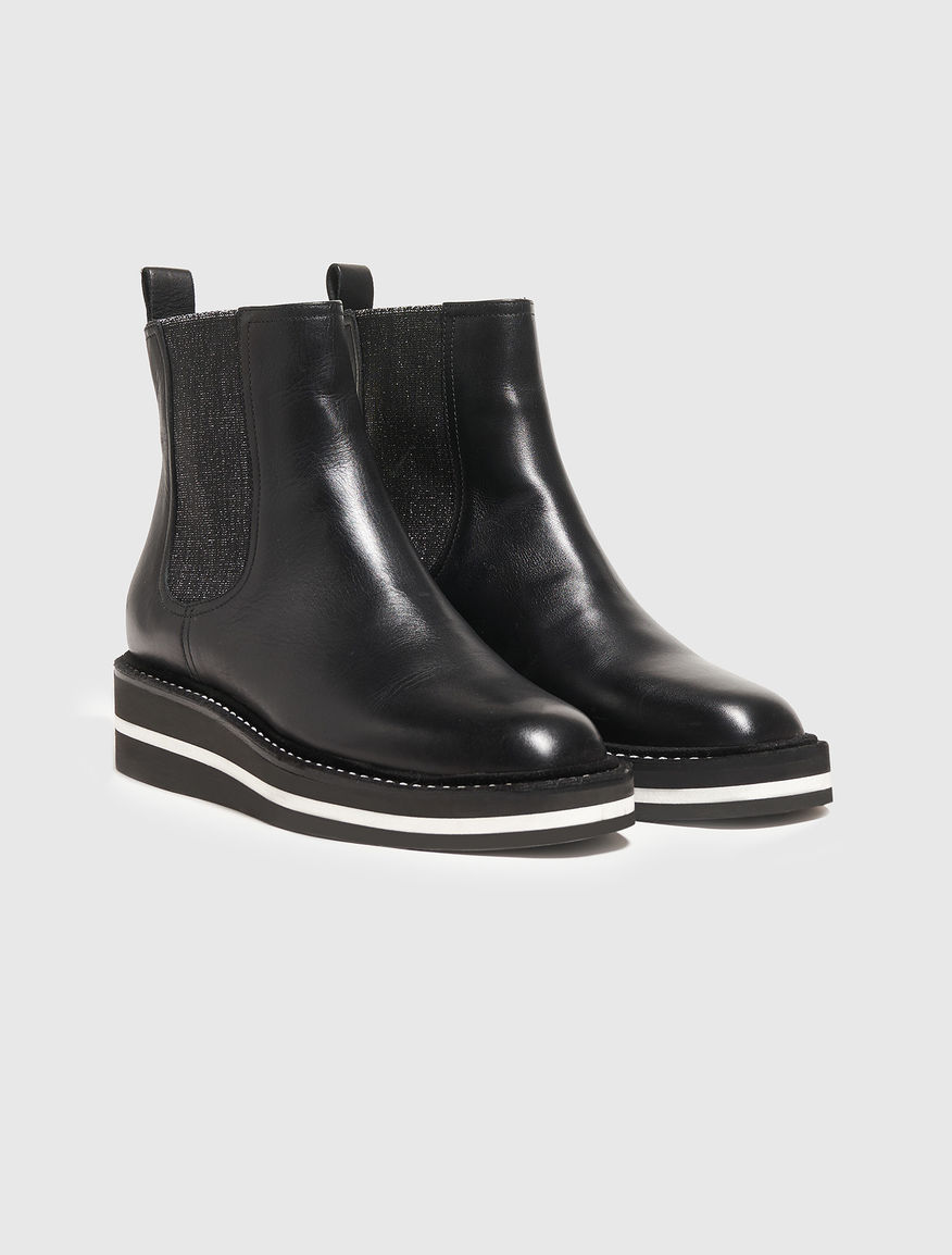 Leather Chelsea boots Marella