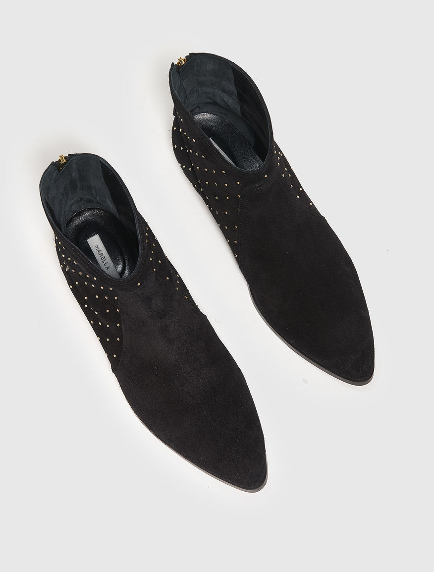Ankle boots in pelle scamosciata Marella