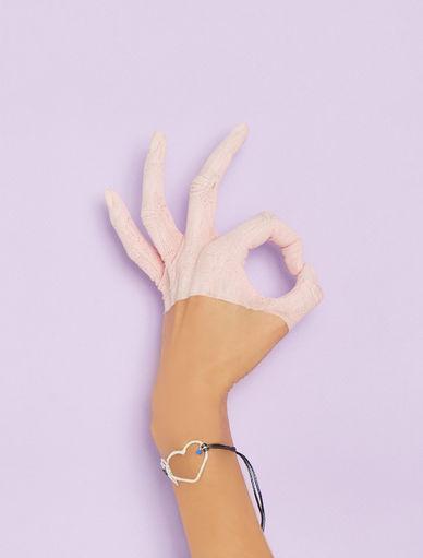 #NEVERALONE bracelet with silk cord Marella