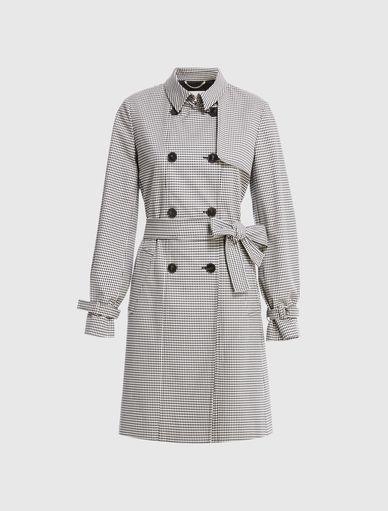 Gingham trench coat Marella