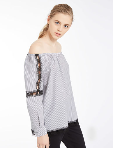 Off-the-shoulder blouse Marella