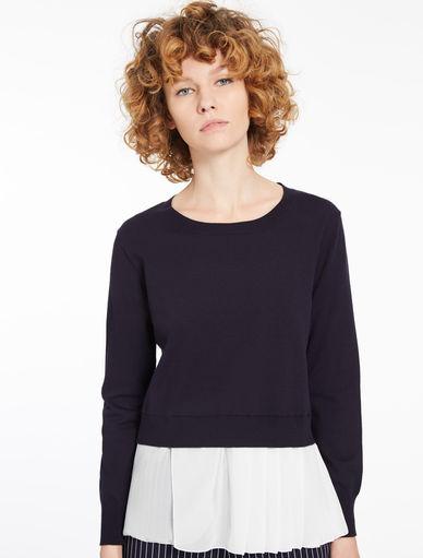 Dual material sweater Marella