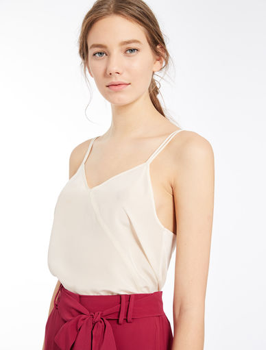 Dual-material vest Marella