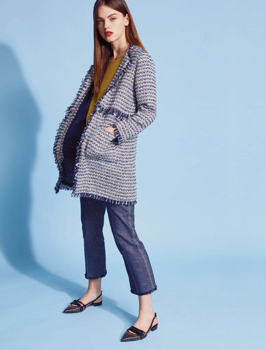 Basketweave coat Marella