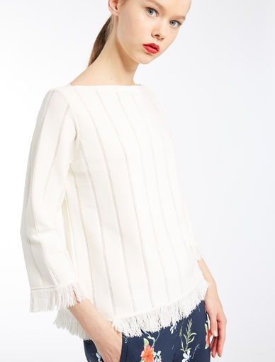 Sweater with fringe Marella