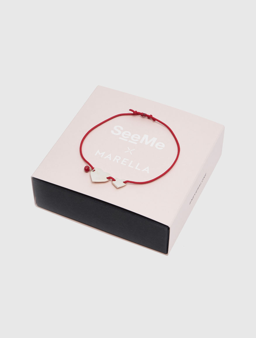 #NEVERALONE bracelet with silk cord Marella