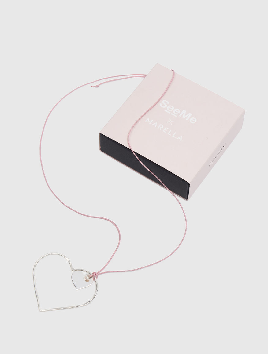 #NEVERALONE necklace with silk cord Marella