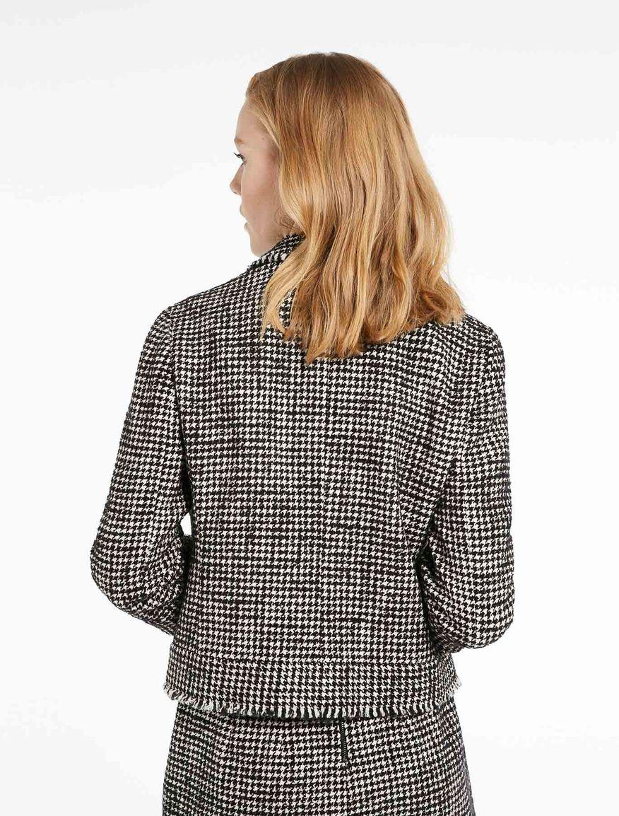 Mantel mit Hahnentritt-Muster Marella