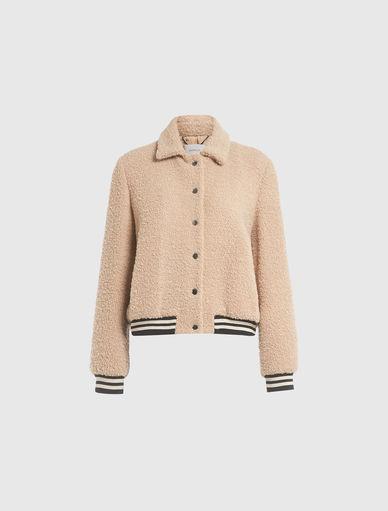 Boucle bomber jacket Marella