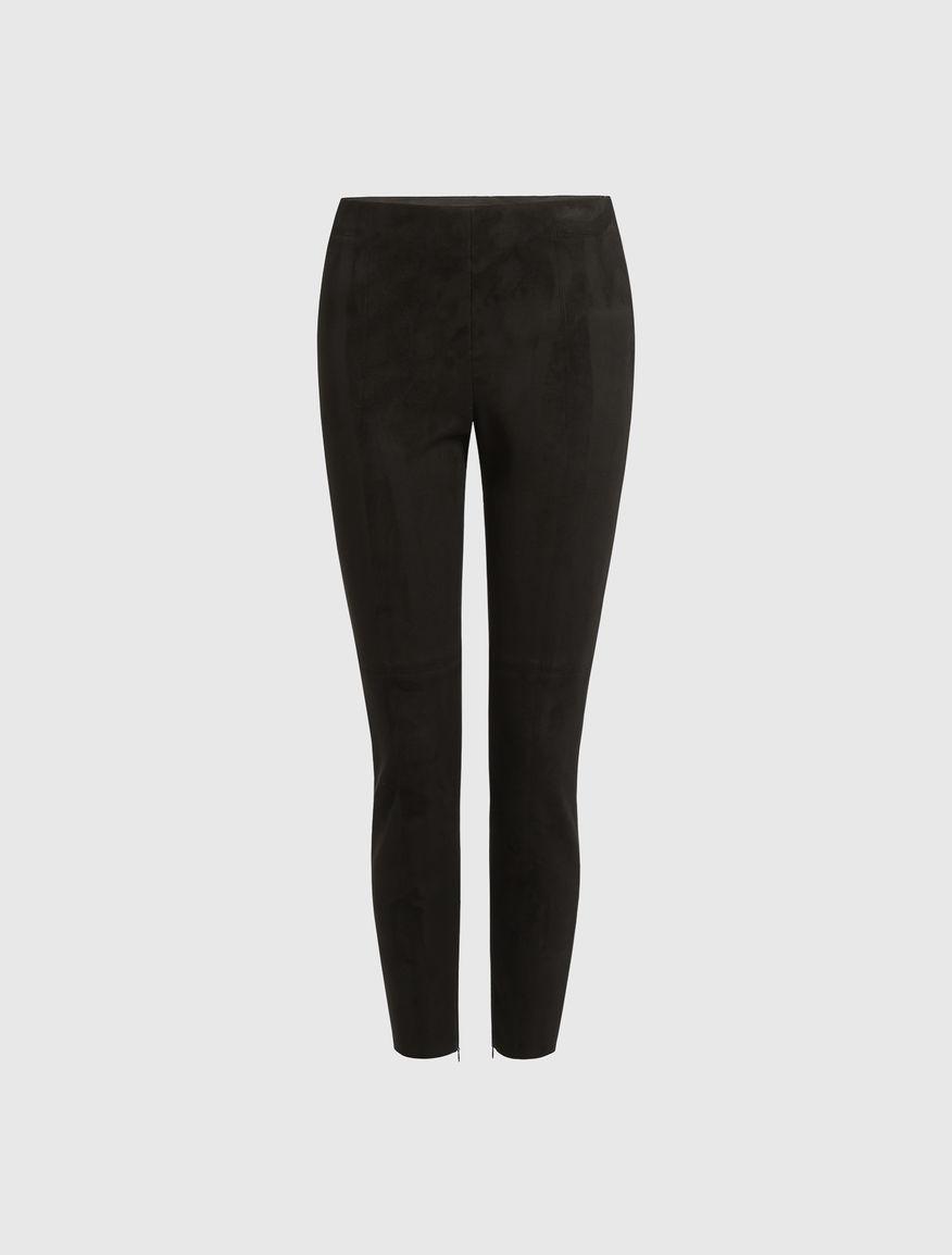 Pantaloni effetto suede Marella