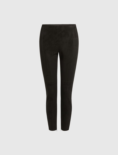 Suede-effect trousers Marella