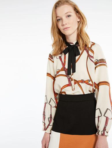 Blusa in crêpe Marella