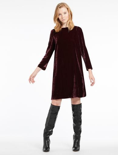 Vestido de terciopelo Marella