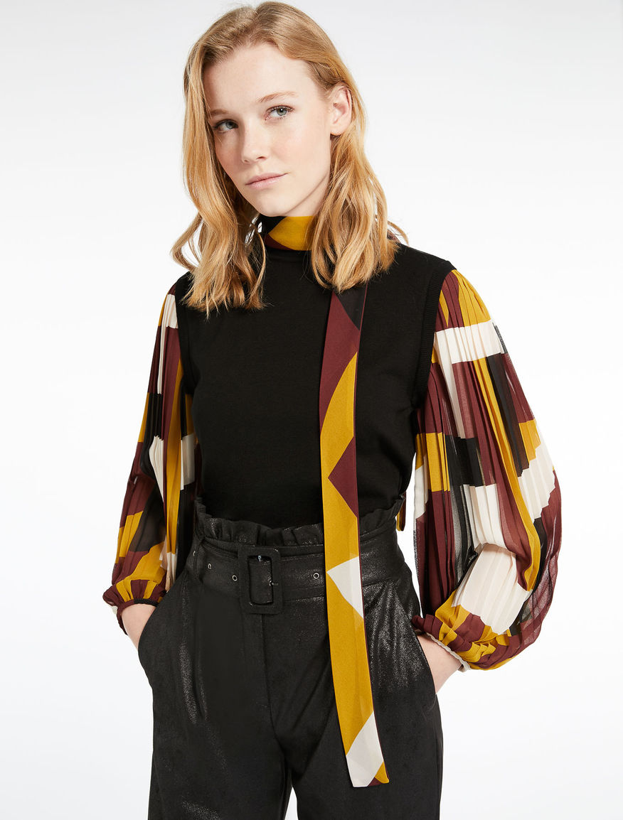Sweater with pleated sleeves Marella