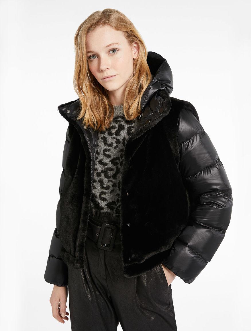 Fur-effect down jacket Marella