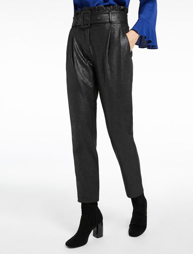 Leather-effect trousers Marella