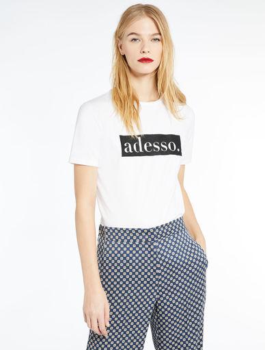 T-shirt con scritta Marella