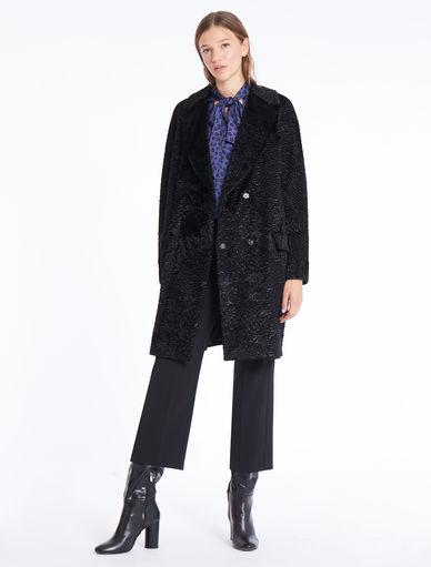 Astrakhan-effect coat Marella