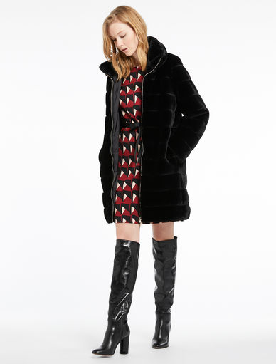 Fur-effect padded jacket Marella