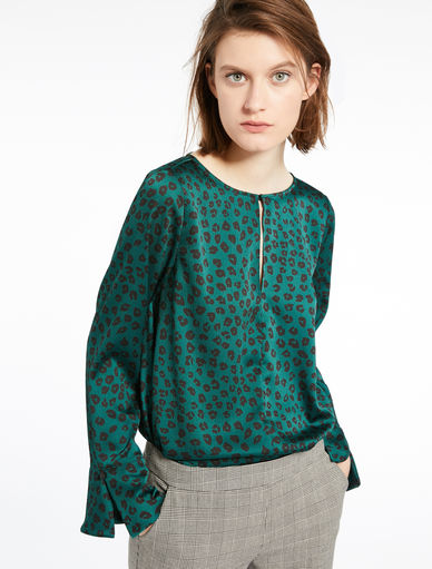 Animal-motif blouse Marella
