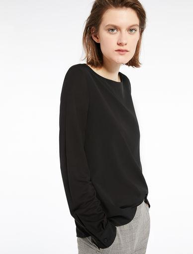 Dual-material blouse Marella