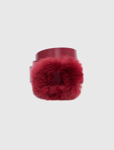 Belt with rabbit fur Marella