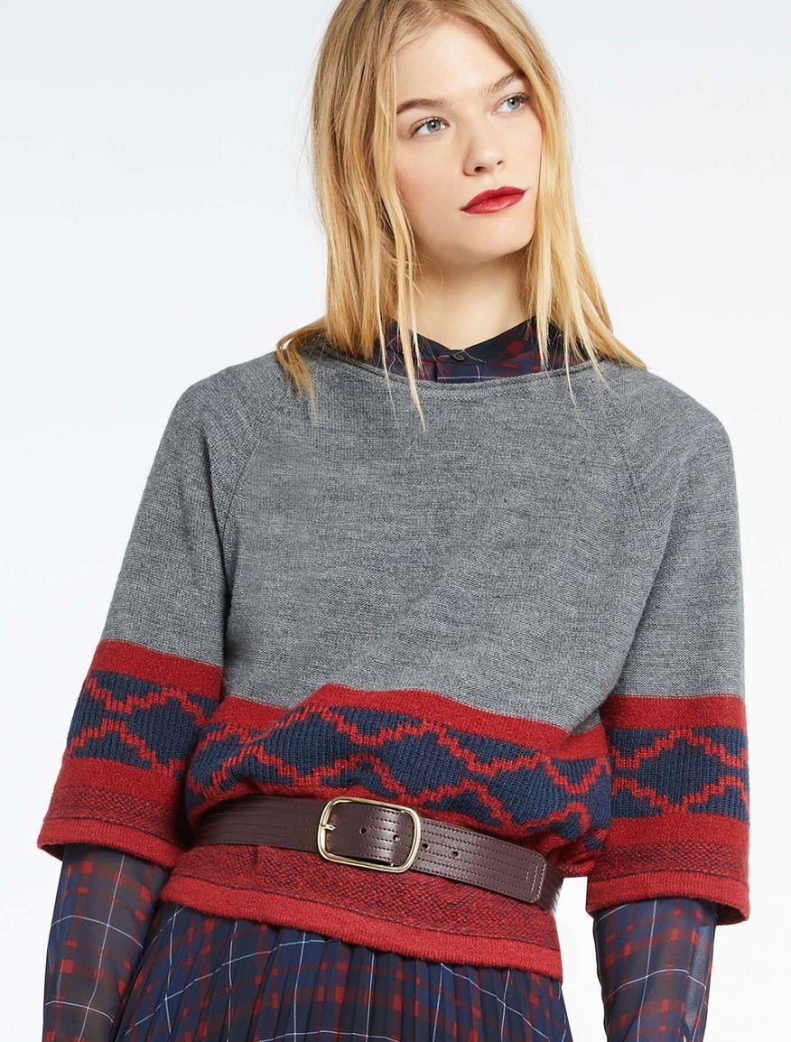 Belt with stitching Marella