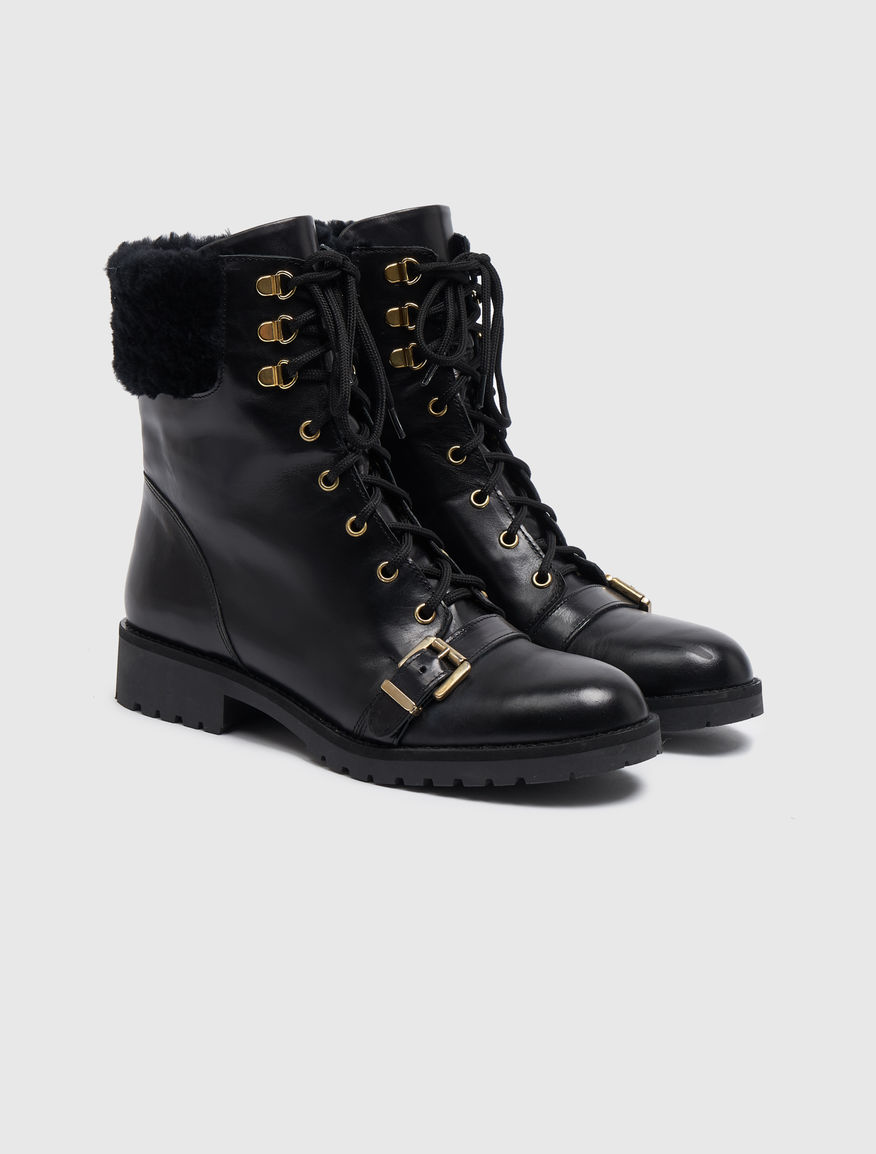 Leather combat boots Marella