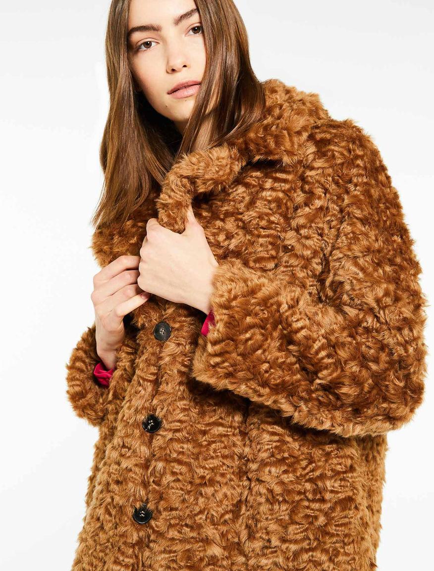 Cappotto effetto pelliccia Marella
