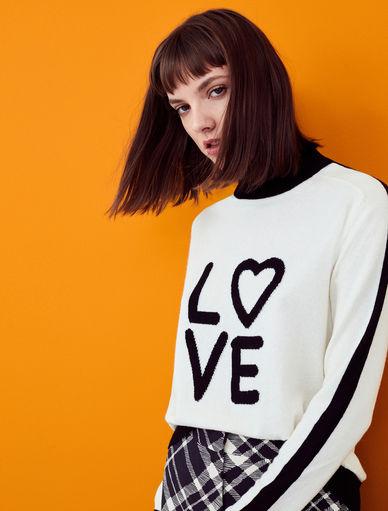 Sweater with writing Marella
