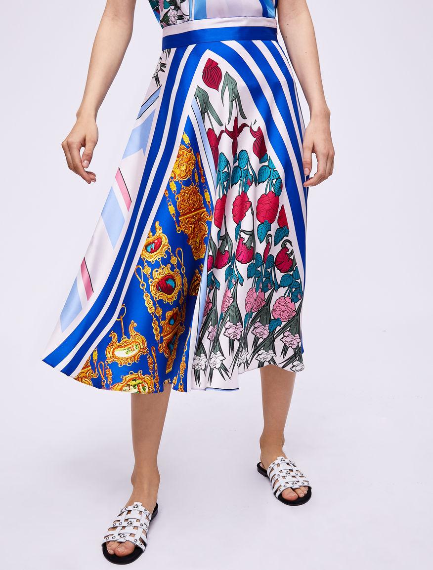 Falda con estampado pañuelo Marella