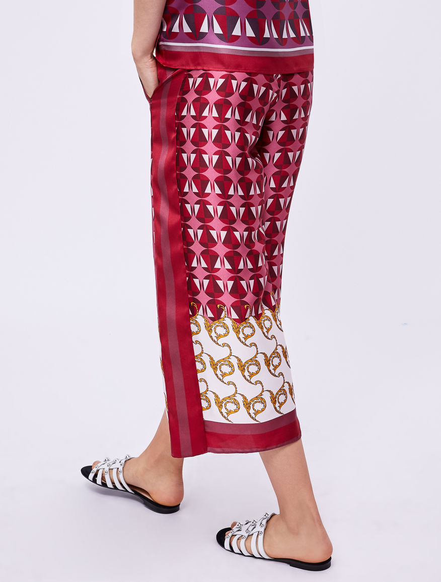 Pantalón estampado pañuelo Marella