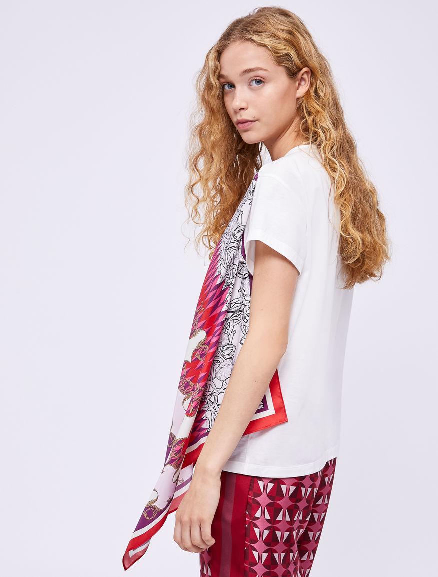 T-shirt stampa foulard Marella
