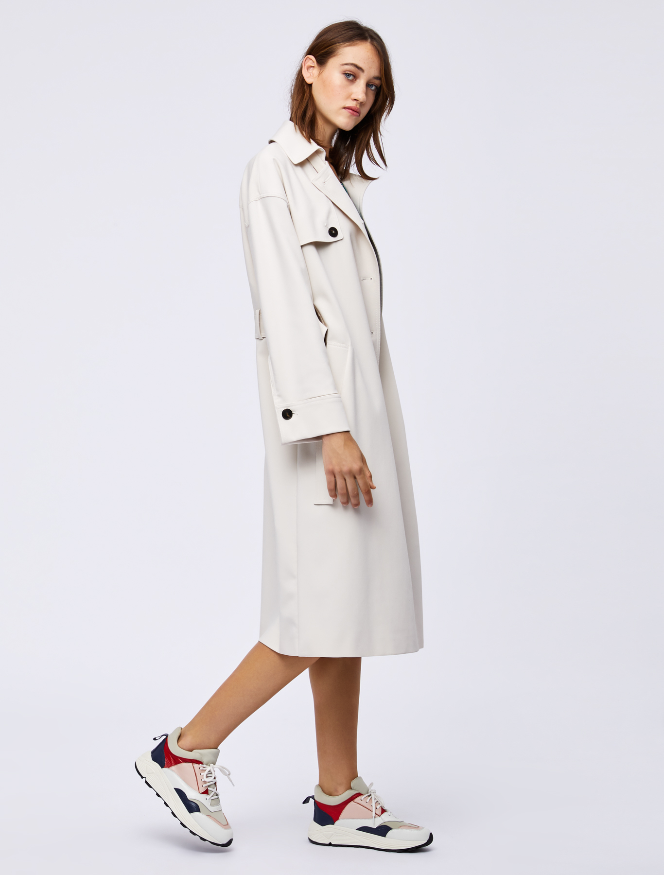 Wool Cotton Trench White Marella Coat qvF1wvf