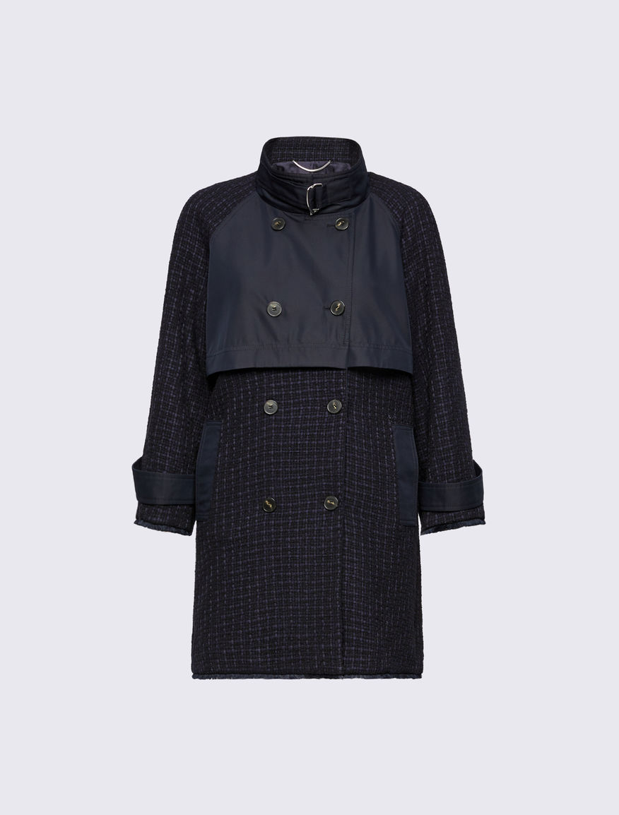 Basketweave trench coat Marella