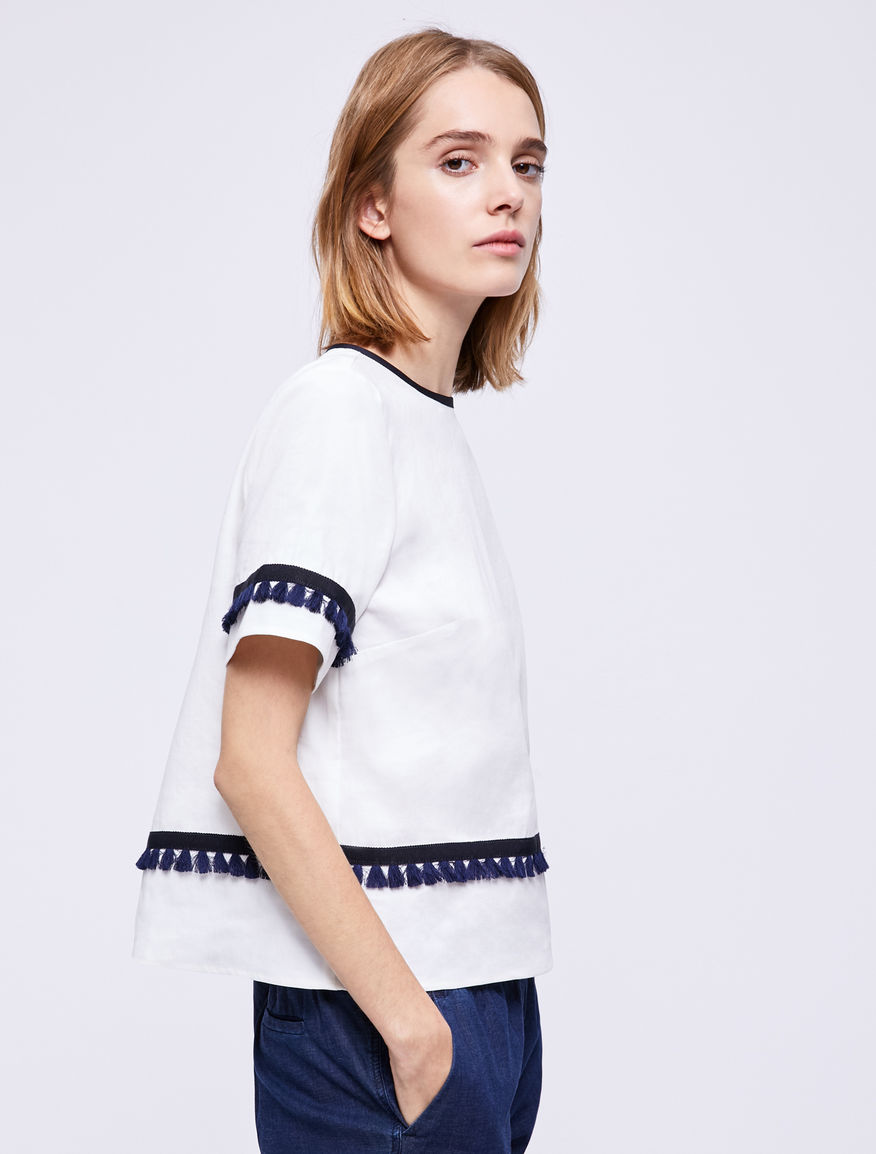 Top with fringing Marella