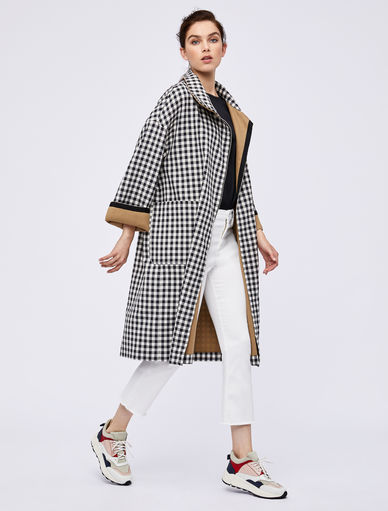 Gingham trench coat Marella