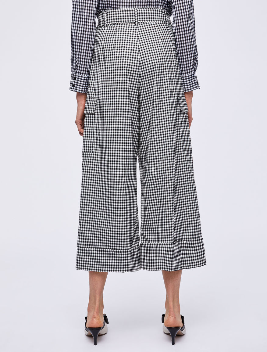 Gingham trousers Marella