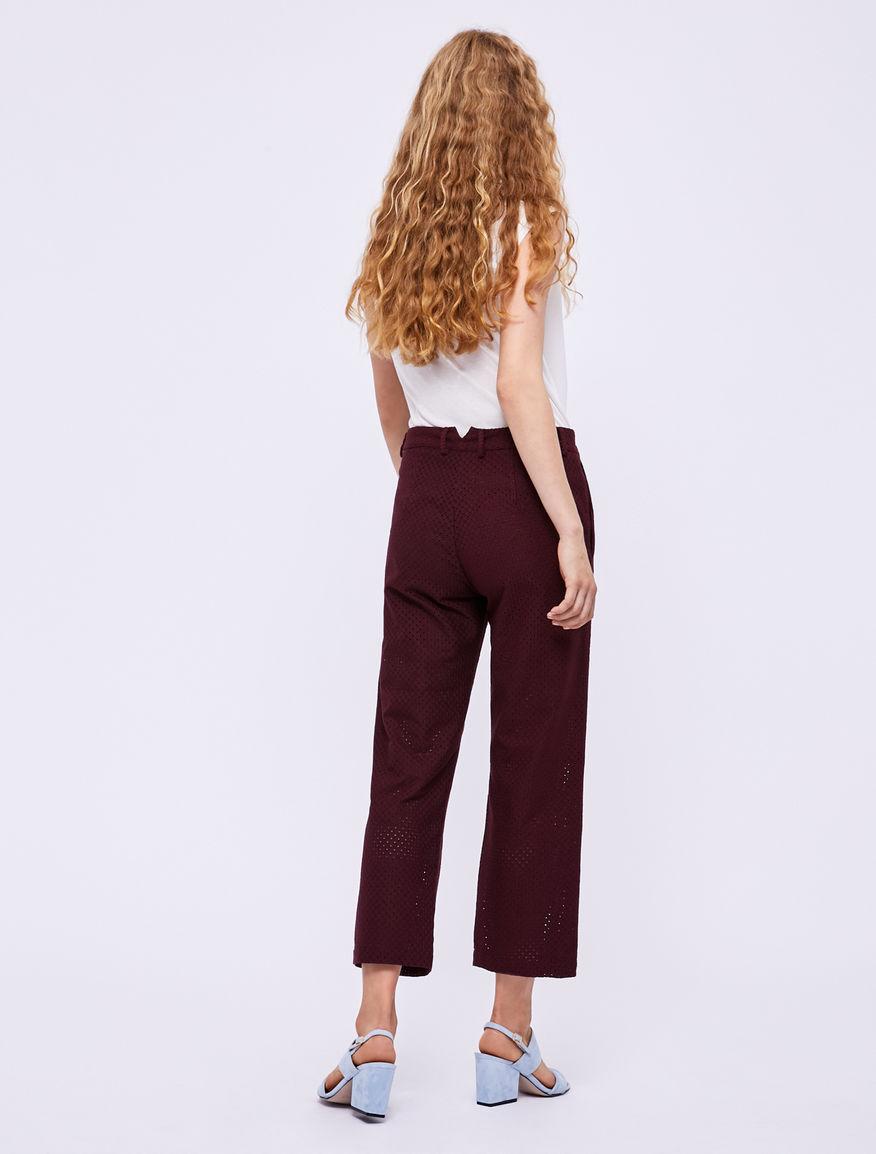 Pantalon avec broderie anglaise Marella