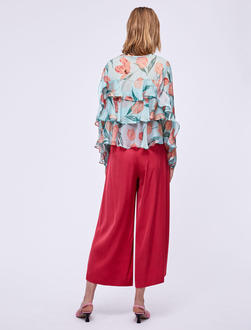 Satin trousers Marella