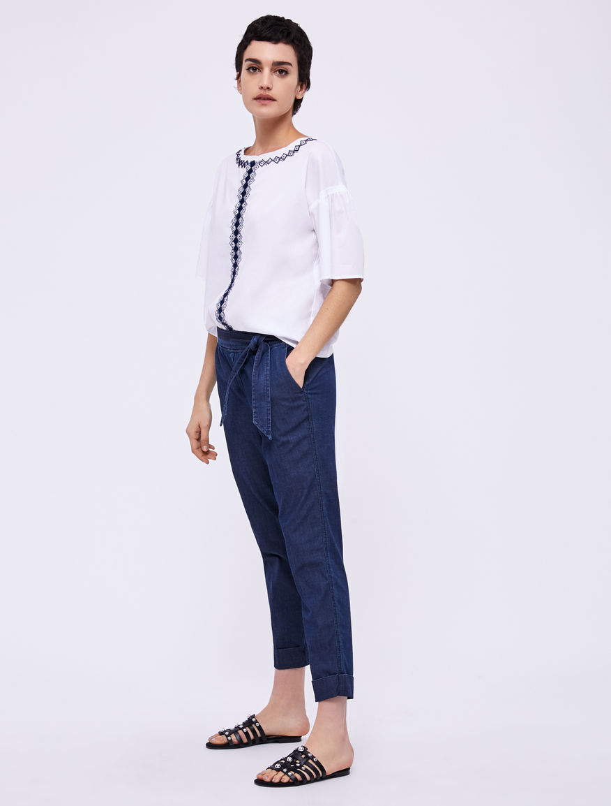 Denim trousers Marella