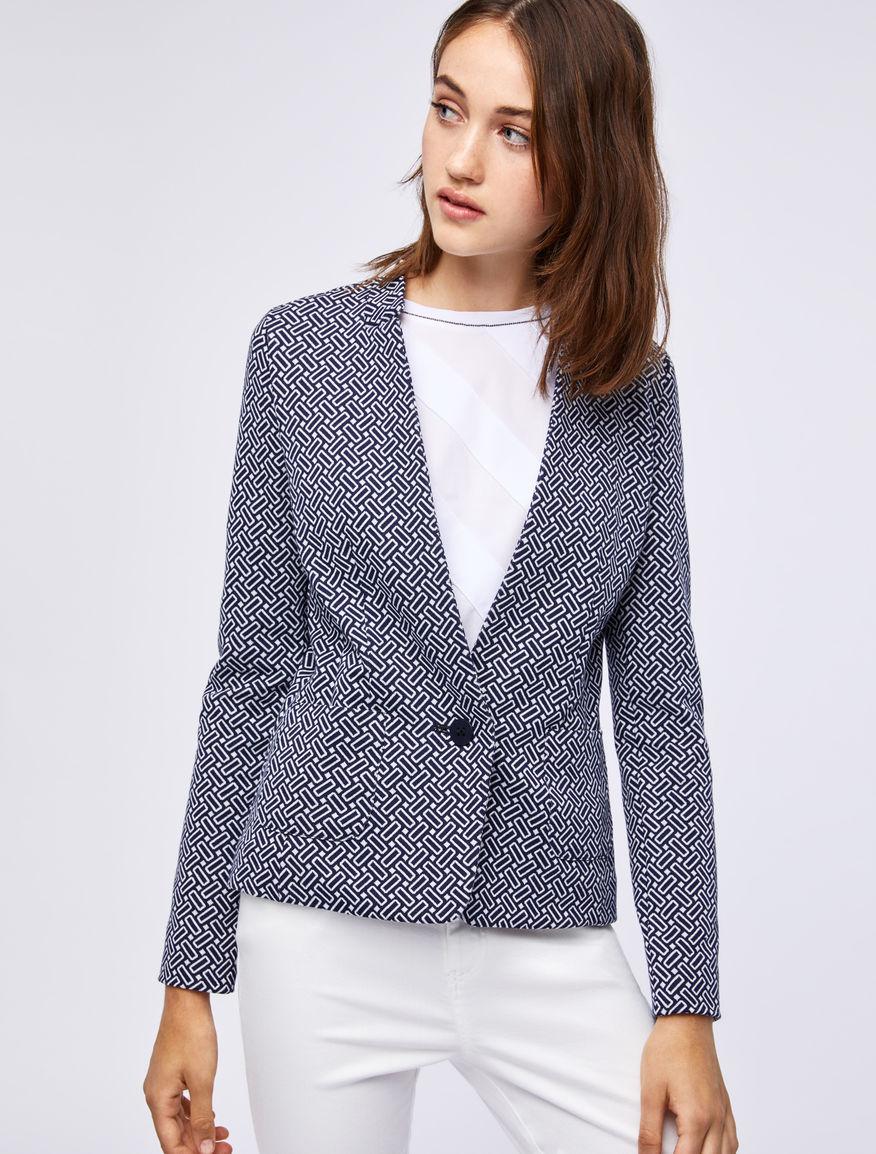 Jacquard blazer Marella