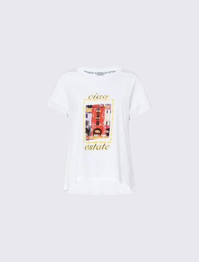 T-shirt bimateriale Marella