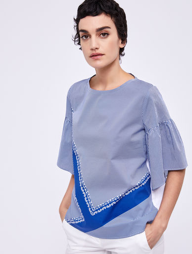 Cotton and jersey top Marella