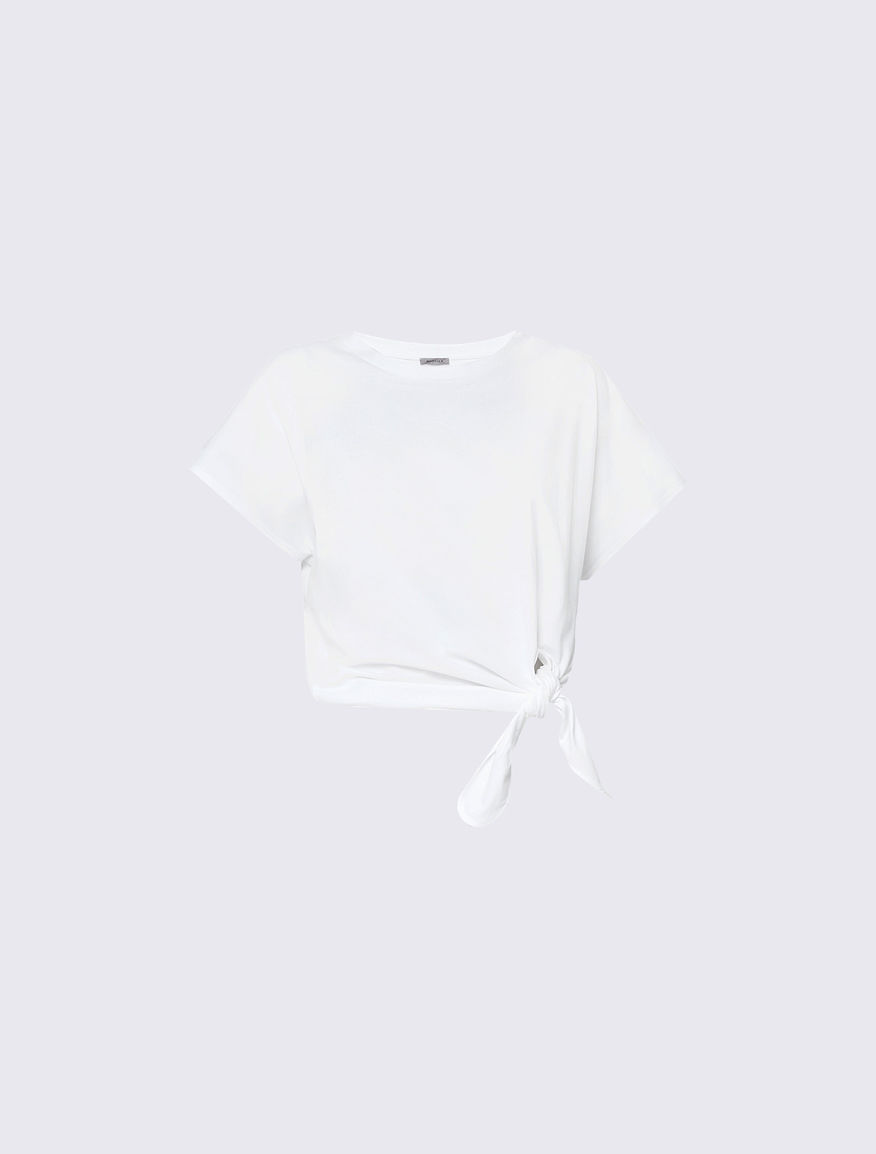 T-shirt con nodo Marella