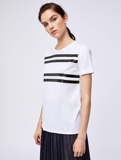 T-shirt con paillettes Marella