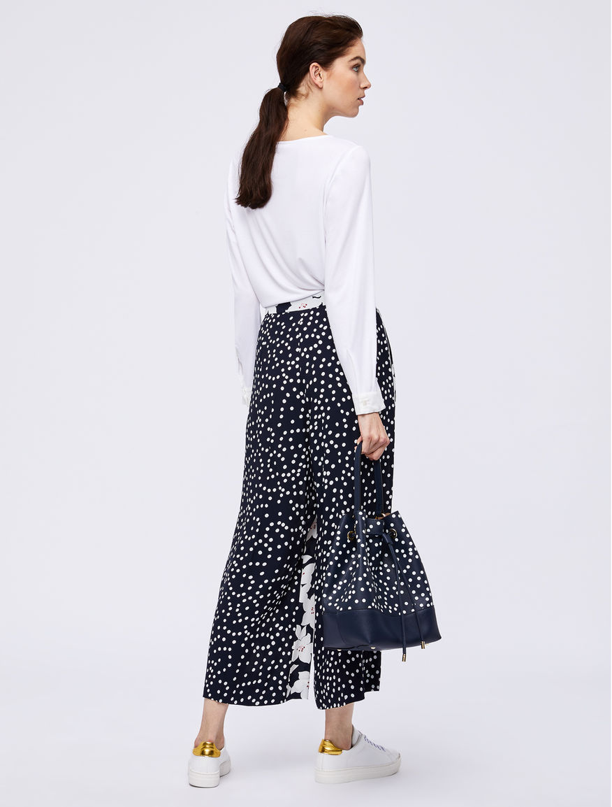 Two-material blouse Marella